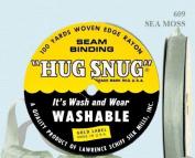 "Hug Snug Seam Binding 100-yds Roll ½"" Wide Hug Snug ~ 609 Sea Moss ~ 100 percentage Woven-edge Rayon ~ Wash 'n Wear ~ made in USA"
