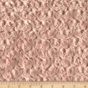 Minky Rosebud Coral Fabric By The YD