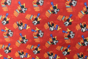 Mickey Print Cotton Fabric 110cm /110cm Width By The Yard