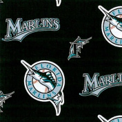 MLB Florida Marlins (the teams previous name and logo) Baseball Print Fleece Fabric Print By the Yard