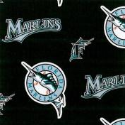 MLB Florida Marlins (the teams previous name and logo) Baseball Print Fleece Fabric Print By the Yard