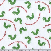 The Very Hungry Caterpillar White Fabric