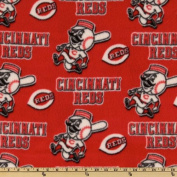 MLB Fleece Cincinnati Reds Toss White/Red Fabric