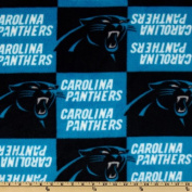 NFL Fleece Carolina Panthers Turquoise/Black Fabric