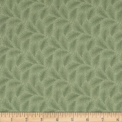 Downton Abbey Lady Edith Small Branches Green Fabric