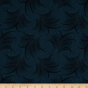 Downton Abbey Lady Mary Feather Print Navy Fabric