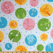 Celebrate Seuss! Seuss! Characters Rainbow Pink Fabric