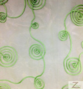 SPIRAL LOOP CRYSTAL ORGANZA FABRIC - Lime Green - 280cm WIDTH SOLD BTY