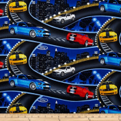 Ford Mustang On The Road Mustang Fabric