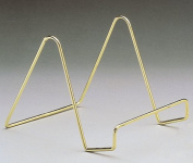Smooth Brass Wire Easel 10cm Pack of 3 Pcs Ships Free Freight!