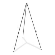 Lorell Folding Display Easel with Adjustable Display Holder, 160cm , Black