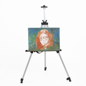 Amzdeal Adjustable 5ft Lightweight Aluminium Artist Sketching Painting Display Easel Portable Tripod Holder Stand + Carrying Bag