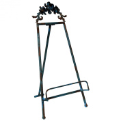 Wilco Imports 7.5 by 19cm by 38cm Rustic Blue Metal Table Easel