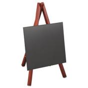 Deflect-O MINIMKR Securit Easel Table Board, 5 7/8 x 5 3/8 x 9, Mahogany Frame, 1/ea