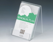Set of 15, Tabletop Display Easels Accommodate 10cm w x 15cm h Signs, Clear Acrylic Slant-Back Display Stands - 0.2cm -thick Acrylic