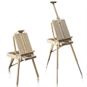 French Easel Wooden Sketch Box Portable Folding Art Artist Painters Tripod New