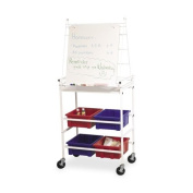 Balt Dry-Erase Surface Easel Cart with Wheels