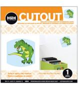 Hip In a Hurry 3D Decor Cut Outs 11cm Minis-Green Dinosaur