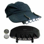 Komingo Camping Fishing Clip Hat Cap Light Lamp Headlamp 5 Leds 2 Pc Pack