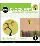 Hip In a Hurry 3D Decor Clock Kits 28cm -Tree