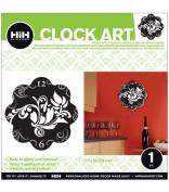 Hip In A Hurry 3D Decor Clock Art 28cm - Tuxedo Flowers