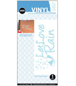 """Hip In A Hurry """"Let Love Rain"""" Removable Vinyl Wall Decal"""