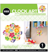 Hip In a Hurry 3D Decor Clock Kits 28cm -Multi Coloured Flower