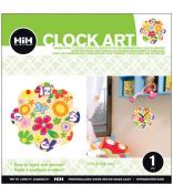 Hip In a Hurry 3D Decor Clock Kits 28cm -Multi Coloured Flower