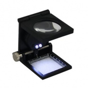 New Folding Staff Pocket LED 10x Magnifying Glass Magnifiers Microscope