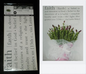 "Hip in a Hurry Peel N Stick Grey Wall Word Decals ""Faith"""
