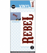 """Hip In A Hurry """"REBEL"""" Removable Vinyl Wall Decal"""