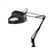 Electrix 7268 FL Magnifier Lamp, Fluorescent, Clamp-on Mounting, 3-Diopter, 80cm Reach, 14W, 800 Raw Lumens