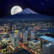 Yokohama By Night Canvas Wall Art Print, 5 Stars Gift Startonight 80cm X 80cm
