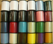 Polyester Sewing Thread Set (24 Spools, 200 Yards Each) by SMB Always