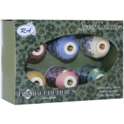 Robison-Anton Thimbleberries 6-Pack Cotton Thread Collection, Spring