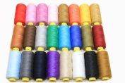 24 Assorted Spools of Polyester Sewing Thread 150 Yards Each