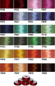 "144 Prewound Bobbins - 24 Colours ""L"" Size Plastic Sided"