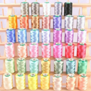 New Threadsrus 40 Spools of Art Silk Rayon Thread for Machine Embroidery - Frosty Colours