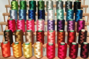 New ThreadNanny 40 Large Christmas Colours Embroidery Threads for Brother Machine - 500 Metres Spools