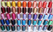 50-cone Polyester Embroidery Thread Kit - 50 colours - 1100 yards - 40wt