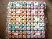 Pastel Shades Lot 100 Balls Size 8 Perle/pearl Cotton Threads for Crochet, Hardanger, Cross Stitch, Needlepoint Hand Embroidery