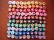 Rainbow Selection Lot 100 Balls Size 8 Perle/pearl Cotton Threads for Crochet, Hardanger, Cross Stitch, Needlepoint Hand Embroidery