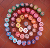 Lot 50 Balls Rainbow Colours of Size 8 Perle/pearl Cotton Threads for Crochet, Hardanger, Cross Stitch, Needlepoint Hand Embroidery. All Different Colours
