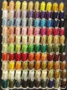 100 Spools Polyester Embroidery Machine Thread