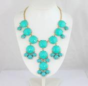 Turquoise Bubble Necklace,Handmade Bib Necklace,Statement Necklace