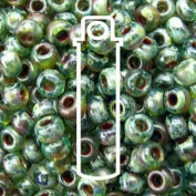 TRANS OLIVINE PICASSO MIYUKI SEED BEADS APPX 22GM TUBE 8/0 Round