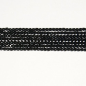 Onyx 4mm Round Faceted Beads 8 Inch Strand