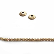 Raw Copper Rondelle Approx. 4mm Approx. 8 inch