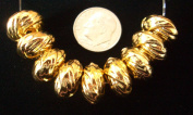 24k Real Gold Plated Jewellery Knots Spacer Loose Beads
