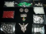 christmas angel beaded jewellery bead kit with mini lampwork ornament focal